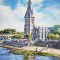 Ballina Cathedral On River Moy by Conor McGuire