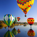 Balloon Reflections by Mike  Dawson