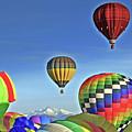 Ballooning Above Longs Peak by Scott Mahon