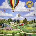 Ballooning In The Country One by Linda Mears