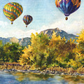 Balloons At Twin Lakes by Anne Gifford