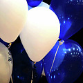 Balloons Of Blue And White by Alan Look