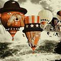 Balloons Over Niagara - Fantasy Collage by Peter Potter