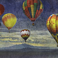 Balloons Over Sister Mountains by Melinda Ledsome