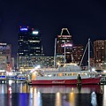Baltimore Harbor At Night by Frozen in Time Fine Art Photography