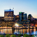 Baltimore Inner Harbor Reflections by Carol Ward