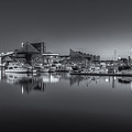 Baltimore Inner Harbor Skyline At Dawn Panoramic Iv by Clarence Holmes