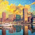 Baltimore Maryland Skyline by Zapista