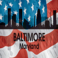 Baltimore Md American Flag Vertical by Angelina Tamez