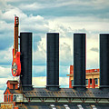 Baltimore Power Plant Guitar Stacks by Bill Swartwout Fine Art Photography