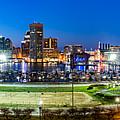 Baltimore Skyline Panorama At Dusk by Mihai Andritoiu