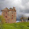 Balvaird Castle Ruins Scotland by Caroline Reyes-Loughrey