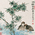 Bamboo And Chicken by Dong Xiyuan