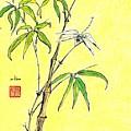Bamboo And Dragonfly by Irina Davis