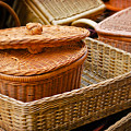 Bamboo Baskets by Charuhas Images