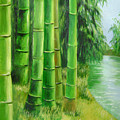 Bamboos By The River by Lian Zhen