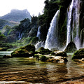 Ban Gioc Vietnam's Most Beautiful Waterfall  by Chuck Kuhn