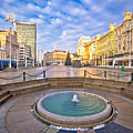 Ban Jelacic Square In Zagreb Advent View by Brch Photography