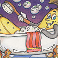 Banana Bubble Bath by Amy S Turner