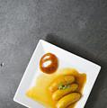 Banana Flambee With Caramel Asian Dessert by Jacek Malipan