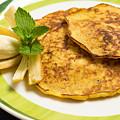 Banana Pancakes Closeup by Nikita Buida