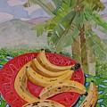 Bananas On A Plate by Caroline Street