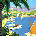 Bandol, French Riviera, Boats On Port by Long Shot