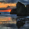 Bandon Sea Stack Swirls by Adam Jewell