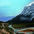 Banff Alberta Rocky Mountain View by Patricia L Davidson