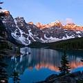 Banff - Moraine Lake Sunrise by Terry Elniski
