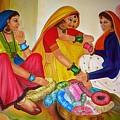 Bangle Seller by Xafira Mendonsa