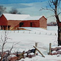 Bankbarn In The Snow by Faye Ziegler