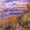 Banks Of The Seine At Champrosay by Renoir PierreAuguste