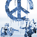 Banksy Soldiers-blue by Erzebet S