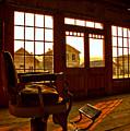 Bannack Barber Chair Sunset by Adam Jewell