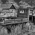 Bannack Extended Parking Black And White by Adam Jewell