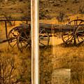 Bannack Wagon Reflections by Adam Jewell