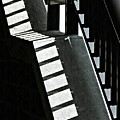 Bannister And Shadows by Sarah Loft