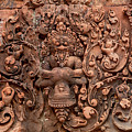 Banteay Srei Bas Relief Carvings - Cambodia by Art Phaneuf