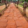 Banteay Srei Red Sandstone Road - Cambodia by Art Phaneuf