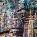 Banteay Srey Temple Bas Relief Details by Mike Reid