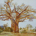 Baobab Tree Of Africa by Lou Ann Overman