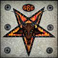 Baphomet - Satanic Pentagram - 666 by Sofia Metal Queen