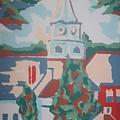 Baptist Church In Gorham Maine by Joseph Sandora Jr