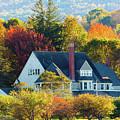 Bar Harbor Autumn House by Brian Knott Photography