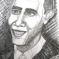Barack Obama by Caroline Lifshey