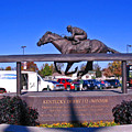 Barbaro Statue At Churchill Downs by Marian Bell