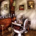 Barber - In The Barber Shop  by Mike Savad