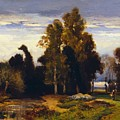 Barbizon Landscape by Dupre Jules
