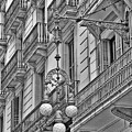 Barcelona Balconies In Black And White  by Carol Groenen
